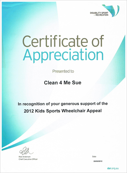 certificate of appreciation clean 4 me sue